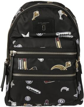 Marc Jacobs Tossed Charms Printed Biker Backpack - BLACK MULTI - STYLE