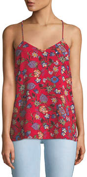 Chelsea & Theodore Floral-Print Racerback Camisole, Red