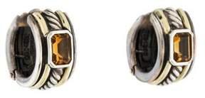 David Yurman Citrine Cable Classics Hoop Earrings