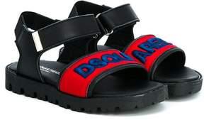 DSQUARED2 patch-appliqué sandals