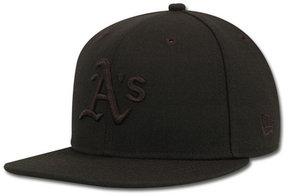 New Era Kids' Oakland Athletics Mlb Black on Black Fashion 59FIFTY Cap