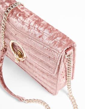 Express Velvet O-Ring Shoulder Bag