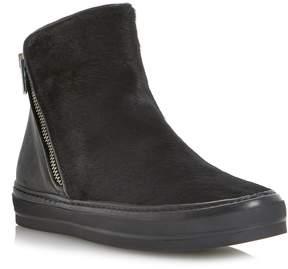 Dune London PINGA DI - BLACK Side Zip Hi-Top Sneaker