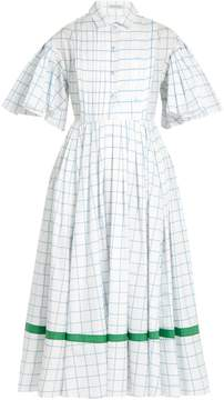 Vika Gazinskaya Checked cotton-poplin dress