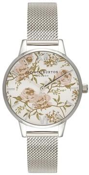Olivia Burton Women's Parlour Mesh Strap Watch, 30Mm