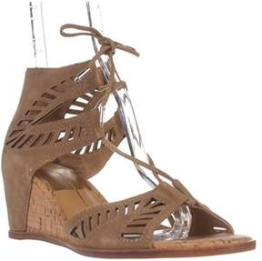 Dolce Vita Linsey Lace Up Wedge Sandals, Almond.