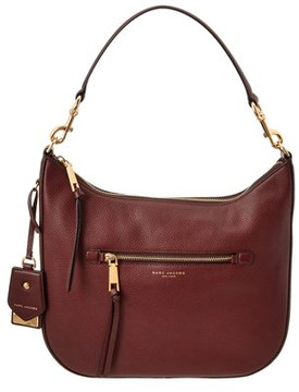 Marc Jacobs Recruit Leather Hobo. - BROWN - STYLE