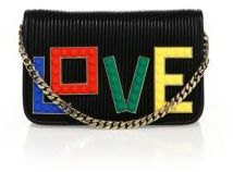 Les Petits Joueurs Janis Micro Rainbow Love Clutch