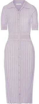 Altuzarra Olivia Ribbed Stretch-knit Dress - Lilac