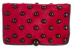 Marc Jacobs Ponyhair Lucky Bug Clutch - RED - STYLE