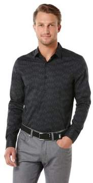 Perry Ellis Long Sleeve Cutaway Button Down