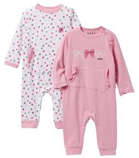 DKNY NYC Dots Assorted Coveralls - Set of 2 (Baby Girls 0-9M)