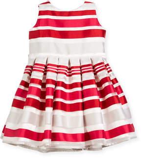Helena Satin Stripe Dress, Size 12-18 Months