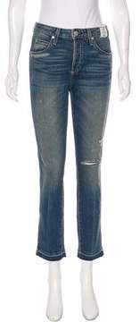 Amo Babe Distressed Mid-Rise Jeans w/ Tags