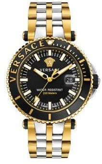 Versace V-Race Two-Tone Stainless Steel Bracelet Diver Watch