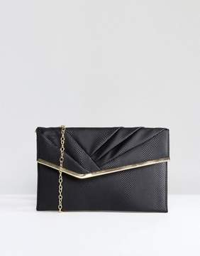 New Look Rouched Flat Clutch Bag