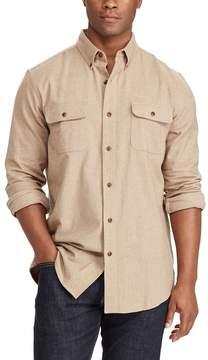Chaps Big & Tall Classic-Fit Herringbone Button-Down Work Shirt