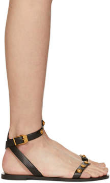 Versace Black Tribute Coin Sandals