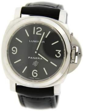 Panerai Luminor PAM000 Logo Stainless Steel 44mm Mens Watch