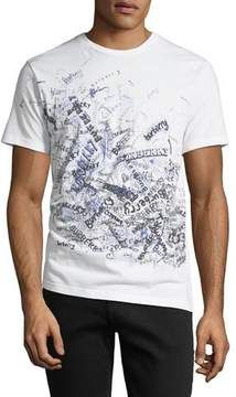 Burberry Squiggles Graphic Cotton T-Shirt