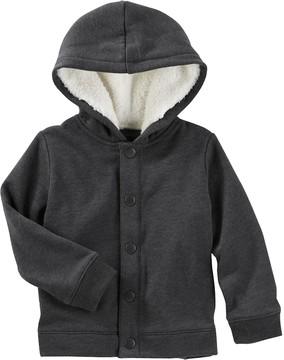 Osh Kosh Toddler Boy Fleece Sherpa Button Down Jacket