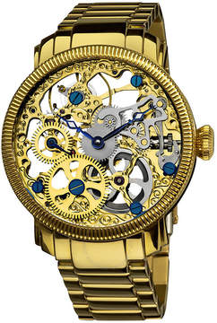 Akribos XXIV Manual Wind Gold-tone Stainless Steel Men's Watch