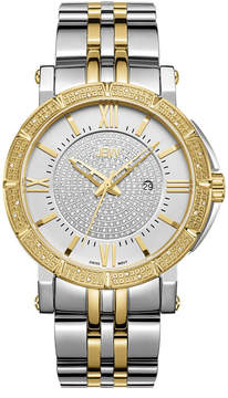 JBW Vault Stainless Steel 0.24 C.T.W Diamond Accent Mens Two Tone Bracelet Watch-J6343c