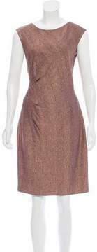 Carmen Marc Valvo Sleeveless Knee-Length Dress