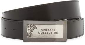Versace Men's Embossed Logo Belt
