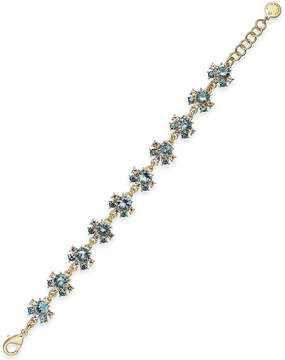 Charter Club Gold-Tone Crystal Cluster Link Bracelet, Created for Macy's