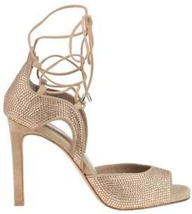 Lola Cruz Women's Beige Suede Sandals.
