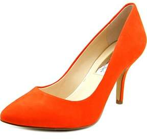 INC International Concepts Zitah Women Pointed Toe Leather Orange Heels.