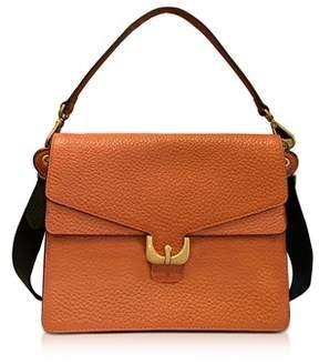 Coccinelle Women's Orange Leather Shoulder Bag.
