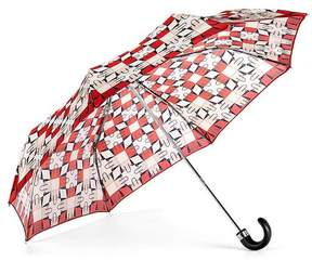 Aspinal of London Ladies Marylebone Compact Umbrella In Berry Red