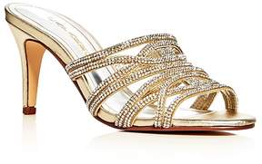 Caparros Impulse Metallic Embellished High Heel Slide Sandals
