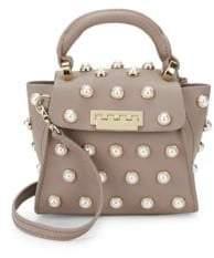 Zac Posen Eartha Iconic Embellished Leather Top Handle Bag