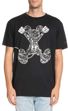 Marcelo Burlon County of Milan Snake-Print Jumping Mickey Mouse-Graphic T-Shirt