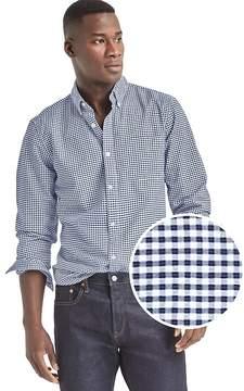 Gap Oxford micro gingham slim fit shirt