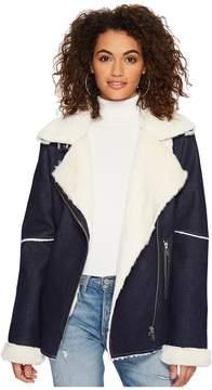 J.o.a. Denim Shearling Jacket Women's Coat