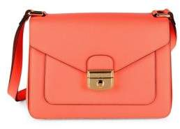 Longchamp Le Pliage-Heritage Leather Foldover Satchel - BRIGHT PINK - STYLE