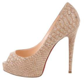 Christian Louboutin Embossed Platform Pumps