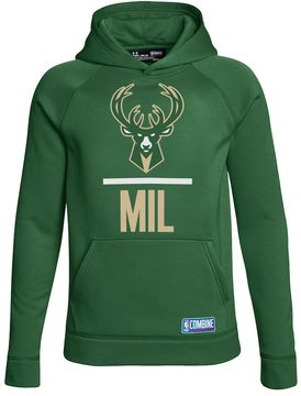 Under Armour Boys 8-20 Milwaukee Bucks Lockup Hoodie