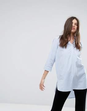 Noisy May Longline Stripe Shirt