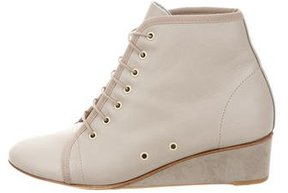 Repetto Lace-Up Wedge Booties
