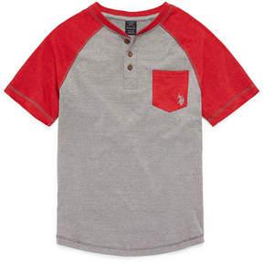 U.S. Polo Assn. USPA Short Sleeve Henley Neck T-Shirt Boys