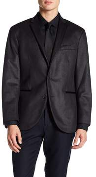 Kenneth Cole New York Square Evening Two Button Notch Lapel Trim Fit Sportcoat