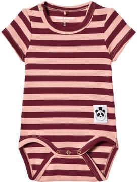 Mini Rodini Pink Stripe Rib Body