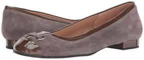 French Sole Zipper Women's Dress Flat Shoes