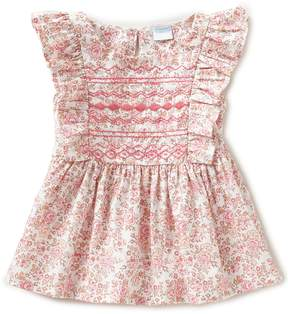 Edgehill Collection Little Girls 2T-4T Floral-Print Embroidered Top