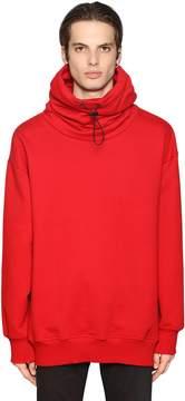 Diesel Black Gold Gathered High Collar Cotton Sweatshirt